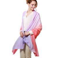 冬季女士长款围巾 两用披肩 春秋渐变款丝巾