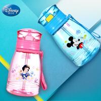 迪士尼儿童水杯夏小学生塑料杯男童女童水壶幼儿园背带吸管杯