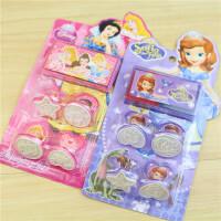 迪士尼公主冰雪奇缘 可爱卡通印章 kt猫儿童印章玩具组合套装