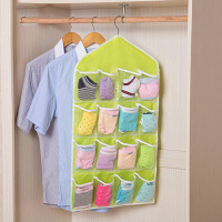 收纳挂袋16格收纳袋挂袋衣柜透明衣柜收纳墙上悬挂式宿舍神器内衣