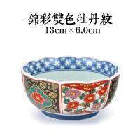 有田窑釉下彩日式餐具陶瓷拉面碗大汤碗复古彩色碗礼品寿碗