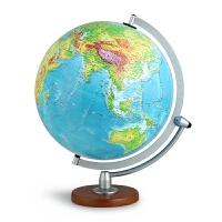 博目地球仪:30cm中文数字地形立体地球仪(LED感应灯光型 3003)