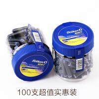 Pelikan百利金4001瓶装短墨胆 水溶性染料墨水 不堵笔 一次性墨囊 墨芯100支装