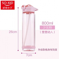 杯子女学生韩版水杯清新简约韩国可爱吸管杯创意潮流塑料便携a226
