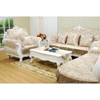 欧式沙发罩布实木沙发垫布艺 简约 香槟色沙发套罩布 防滑提花沙发巾