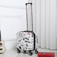 18寸登机箱万向轮小旅行拉杆箱正方形女旅行箱男行李箱17潮皮箱16