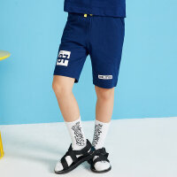 【99元4件】moomoo童装男童裤子新款夏季迪士尼时尚休闲纯棉中大童短裤