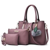 女士包包2018新款韩版冬季时尚手提包百搭单肩斜挎包子母包三件套SN7022