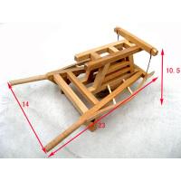 微型观赏老农具系列 木制仿古代农村独轮车 浓缩小推车工艺品