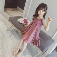 童装女童吊带连衣裙夏装韩版小女孩洋气儿童蕾丝公主裙子
