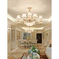 欧式吊灯客厅水晶灯简约奢华餐厅灯现代家用大气卧室简欧客厅灯具4gk