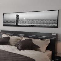 20180512115505819FGHGF 北欧卧室床头装饰画黑白简约横版客厅酒店宾馆主卧挂画沙发背景墙