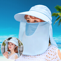 遮阳帽女夏天户外太阳帽遮脸男女电瓶骑车帽子