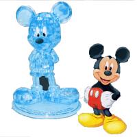 新年礼物平安果3D立体水晶拼图模型DIY积木 发光红苹果拼装