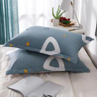 家用枕套一对装单个简约拆洗北欧枕巾枕头罩情侣款套子时尚