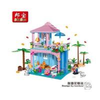【小颗粒】精品 邦宝益智拼插塑料积木女孩玩具馨香花瓣浴8361