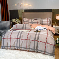 伊迪梦家纺 纯棉磨毛四件套活性印花 加厚保暖床上用品全棉柔软舒适床品套件1.5m1.8m床HC672