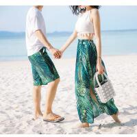 泳衣情侣款男女分体裙式长裙沙滩度假泳装三件套小胸聚拢显瘦