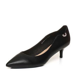 Tata/他她2018春专柜同款牛皮尖头通勤细跟女皮鞋FCV12AQ8