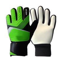 足球手套 守门员透气手套男健身训练入门级儿童比赛专用门将手套护具 绿色 5号(适合1-3年级戴)