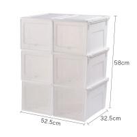 家居生活用品透明盒柜收纳神器装子的盒子合收纳盒塑料整理箱加厚简易