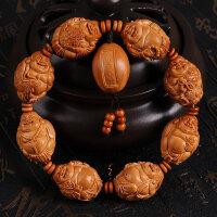 橄榄核雕八大弥勒 瑞兽弥勒 橄榄胡雕刻老油核手工雕刻弥勒