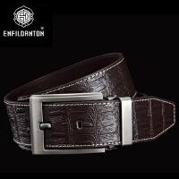 英菲丹顿ENFILDANTON 男士时尚针扣腰带 仿鳄鱼纹腰带
