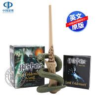 现货 哈利・波特伏地魔的魔杖连贴纸套装 英文原版Harry Potter Voldemort's Wand with S
