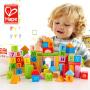 德国Hape 80粒积木玩具1-2-3-6周岁男女孩婴儿宝宝儿童益智木头木制