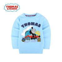 【直降】托马斯正版童装男童春装纯棉长袖圆领T恤卡通印花休闲打底衫上衣托马斯和朋友三色选
