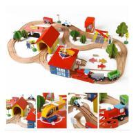 木制托马斯69片轨道车电动小火车套装 木制儿童益智拼装亲子玩具5