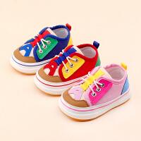 0-1-3岁男女婴儿宝宝休闲单鞋春秋季软底棉布鞋子学步鞋