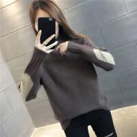 【爆款力�]】半高�I毛衣女��松外穿��衫2020新款秋冬打底衫洋��却罴雍裉最^