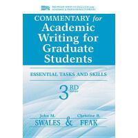 【预订】Commentary for Academic Writing for Graduate Students: