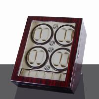 摇表器 机械表自动上链盒手表转表盒摆表器晃表器手表盒 开盖自停:8+5黑檀+米白