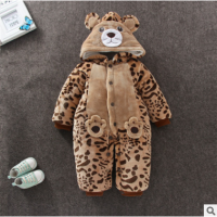 男女童中国风唐装冬装新款宝宝拜年衣服儿童新年汉服婴儿哈衣童装qg