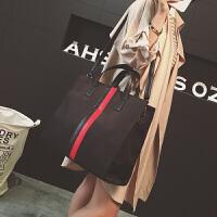 小包链条包帆布包女水桶包帆布袋2017新款大包包托特女包夏季女士手提包时尚单肩斜挎包公文包