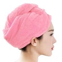 [当当自营]三利 高梳纱超柔软不掉毛干发巾 水晶粉 强吸水加厚加大浴帽
