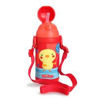 美国nuby 儿童保温杯 不锈钢保温壶宝宝吸管杯杯子两用大容量便携水杯 385ML