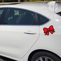 hello Kitty 猫咪 凯蒂猫蝴蝶结丝带 个性卡通汽车贴纸 反光车贴