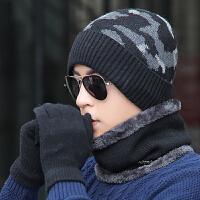 帽子男冬季保暖毛线帽护耳套头帽冬天男士围脖套帽包头帽骑车