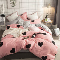 床上四件套纯棉床单被罩纯棉田园1.5/2.0/1.8m床双人公主风女