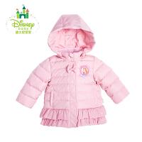 迪士尼Disney宝宝大衣女童羽绒服女宝宝棉袄保暖秋冬款164S846