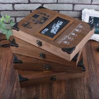 高档复古木盒同学录创意唯美活页毕业纪念册学生聚会留言本通讯录