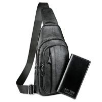 新款胸包时尚男士新款时尚斜挎包软皮韩版单肩包胸前小背包大容量