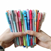 晨光中性笔黑色0.38mm韩国女生可爱创意小清新水笔学生用0.5水性笔签字笔圆珠卡通小学生初中生文具套装