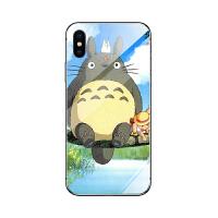 龙猫手机壳苹果6/8plus/x/oppor15/17vivox9华为p20小米8/9玻璃壳