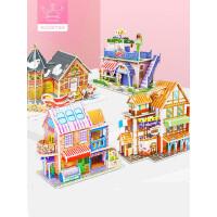 儿童3d立体拼图模型宝宝diy手工男孩女孩积木玩具早教益智力拼装