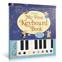 英文原版 春节礼物书 My First Keyboard piano Book精装包含9首童谣儿歌 单手弹奏 内含简单的曲调 键盘钢琴 电子琴发声书