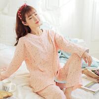 月子服产后哺乳睡衣产妇家居服喂奶衣套装夏春秋季棉长袖孕妇